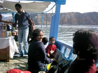 Aswathy n her husband Dinesh and Kids