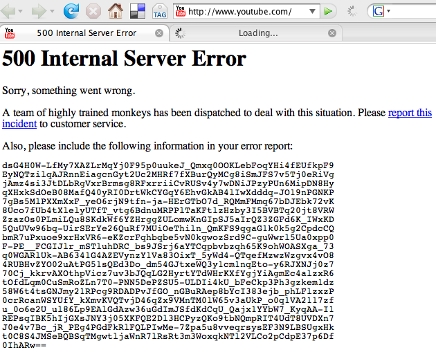 youtube server down