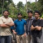 Group picture : Imthi, Nygil, Sebi and Nishanth