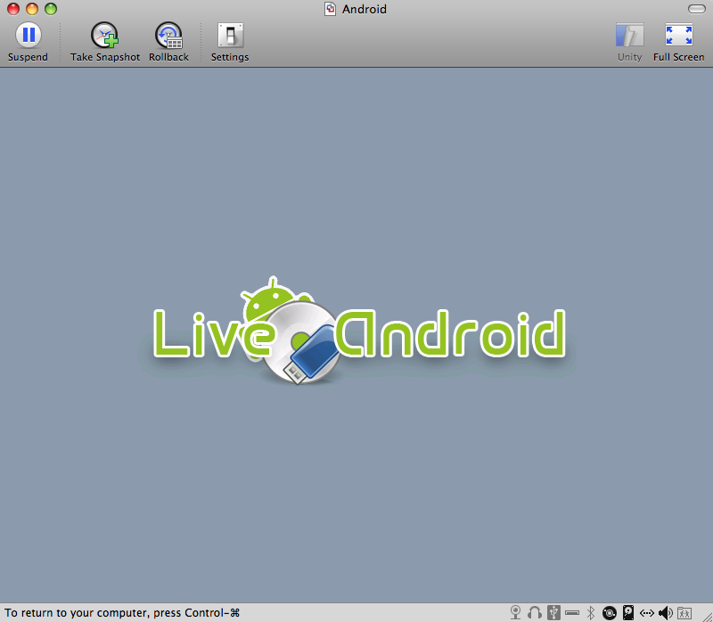 Android LiveCD Splash Screen