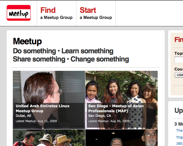 UAE lug meetup group featured on homepage
