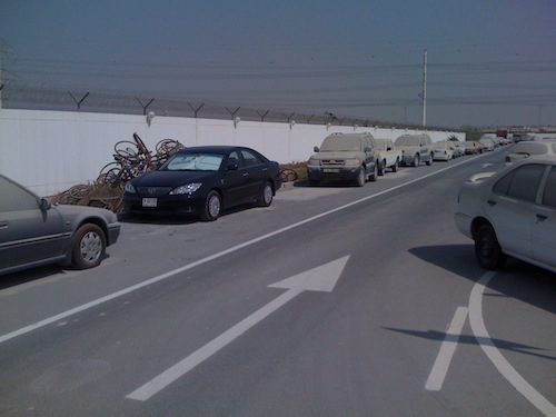 my car parked inside Dubai impound