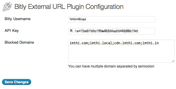 Wordpress Plugin – Bitly External URLS – Imthiaz Blog