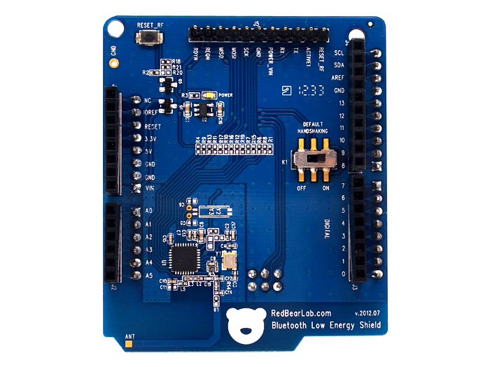 Arduino with bluetooth shield iphone controlled