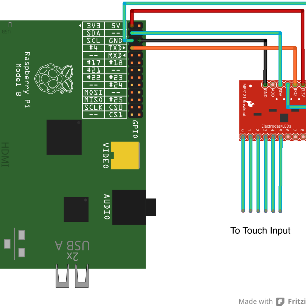 Raspberry Pi MPR121 Connection