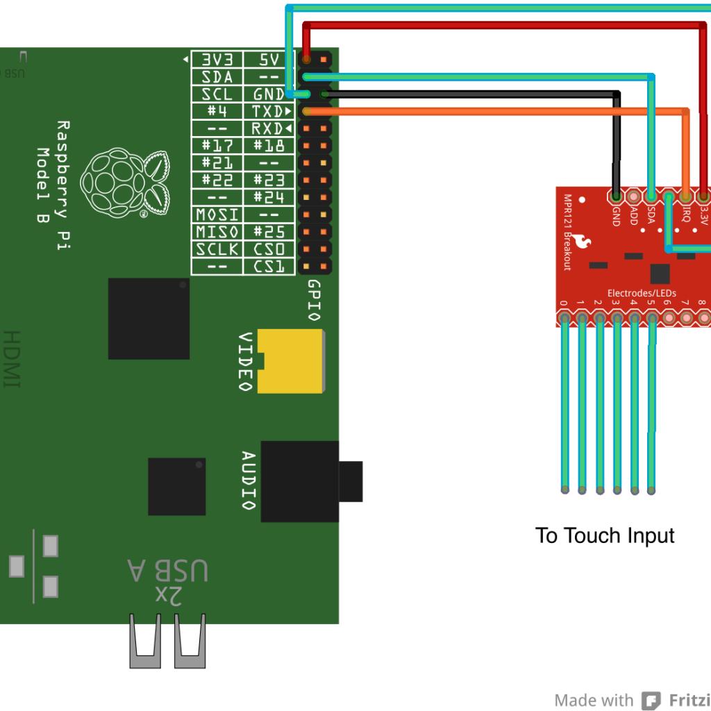 Raspberry Pi MPR121 Connection
