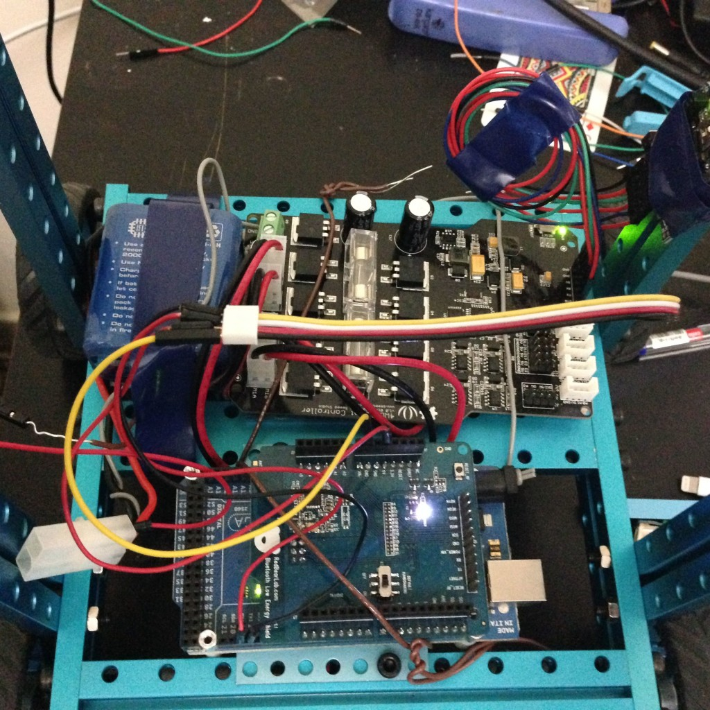 Robotic Car Top View With All Connections